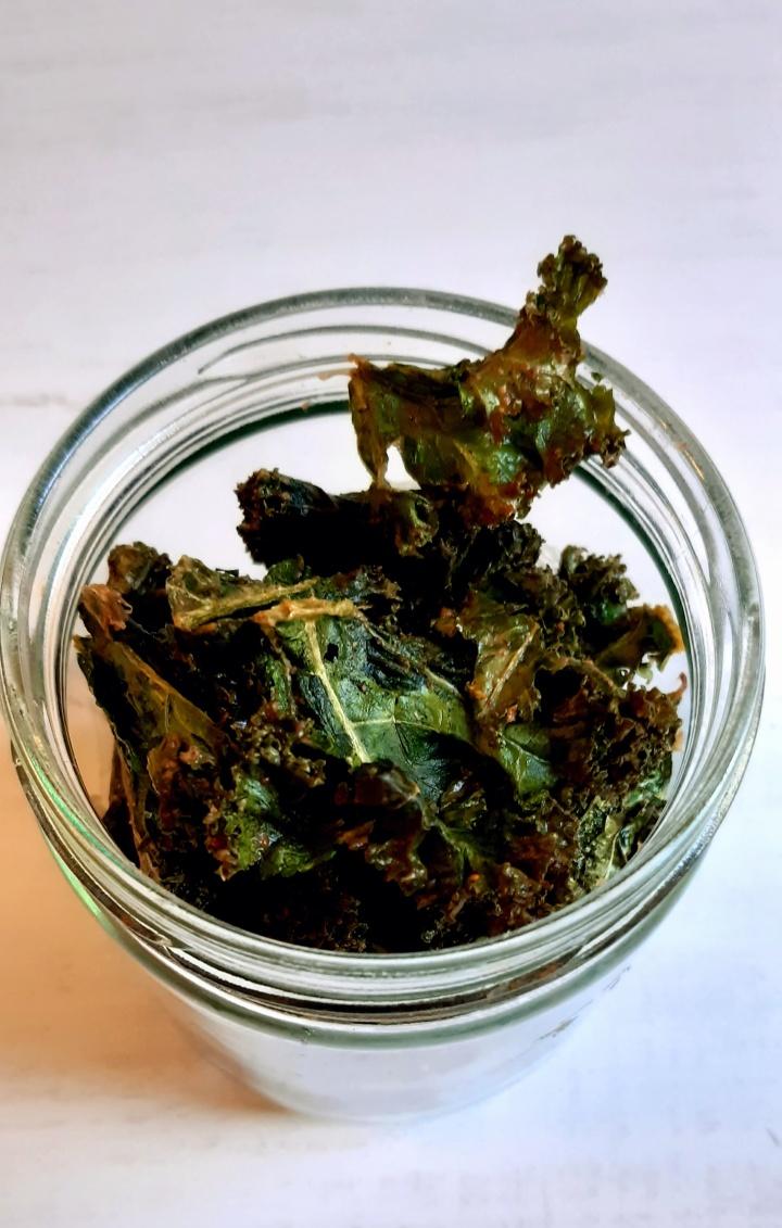 Chips de Kale au beurre decacahuètes