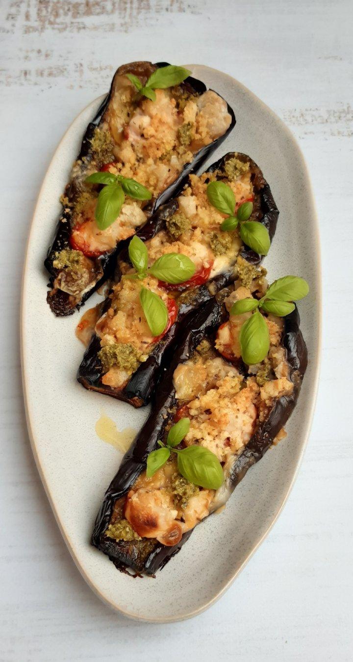 Bruschetta d'aubergines