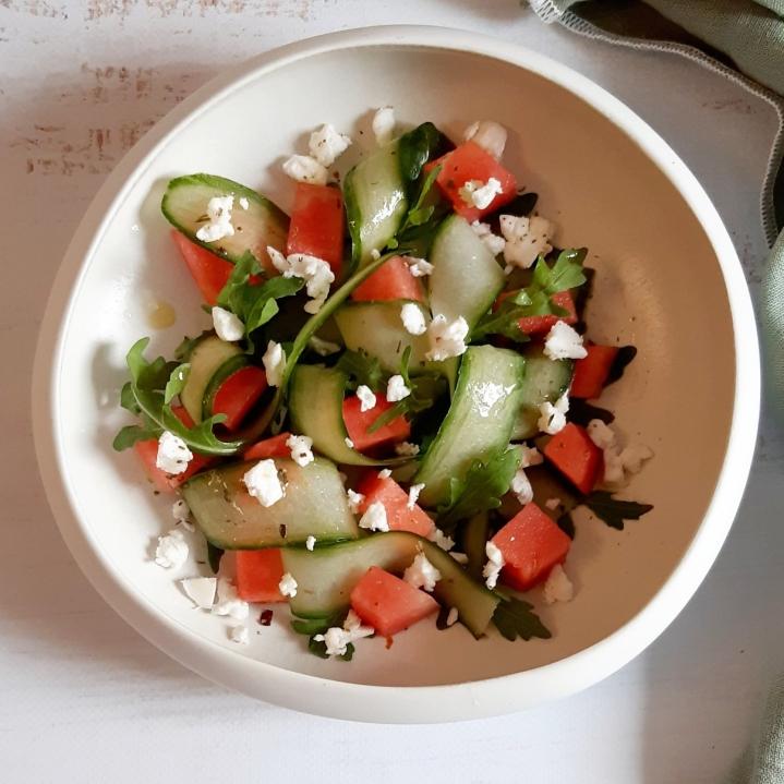 Salade concombre etpastèque