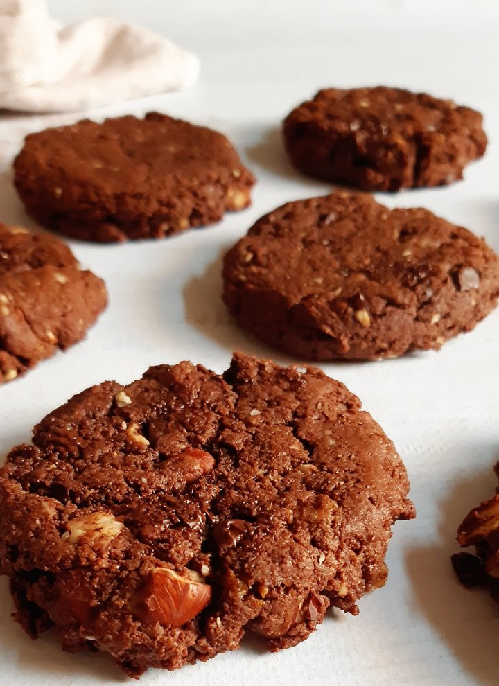 Cookies aux noisettes etchocolat