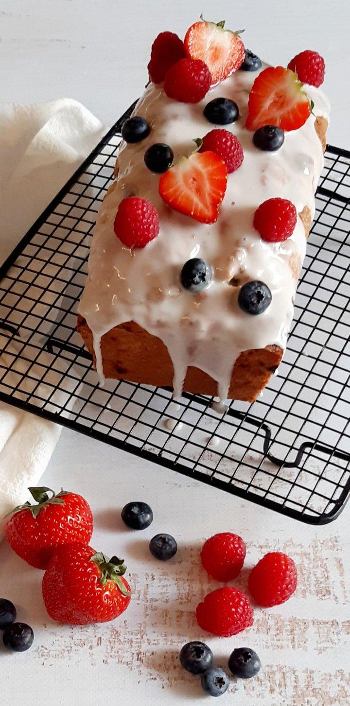 Cake aux fruitsrouges