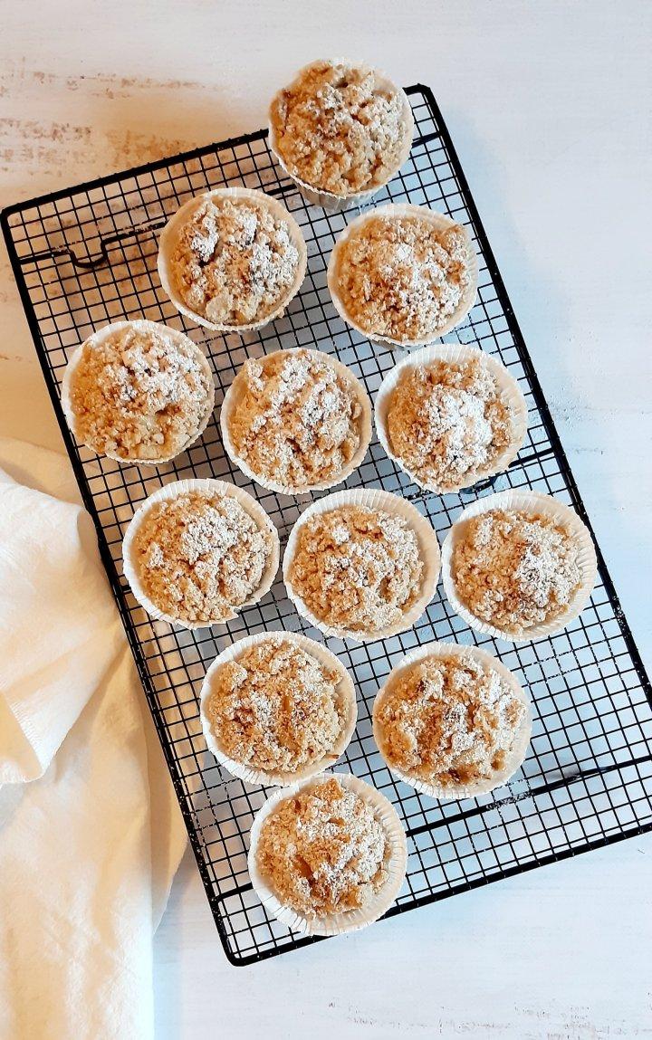 Cupcakes aux pommes façoncrumble